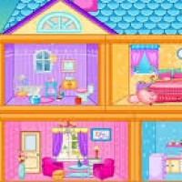 Pink Doll House Makeover